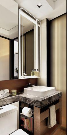 Ideas Diy Bathroom Mirror Makeover Toilets For 2019 Bathroom Mirror Makeover, Bathroom Vanity Decor, Rustic Bathroom Vanities, Bathroom Storage, Bathroom Interior, Bathroom Ideas, Diy Mirror, Bathroom Shelves, Bathroom Grey