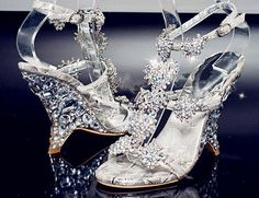 Princess wedding shoes sandals Jewelry crystal by Phoenixinfire, $149.99