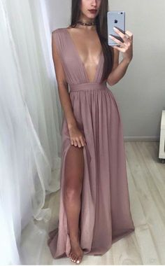 long prom dresses, prom dresses long, dresses for women, women's prom dresses, 2017 prom dresses for party, prom dresses with split side, deep v-neck prom dresses,