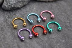 Horseshoe Barbell in Candy Colors