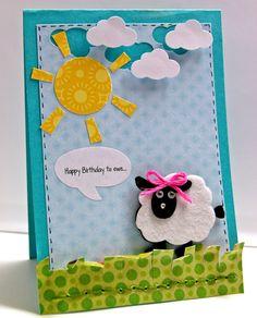 Card: Happy birthday to ewe good kids card