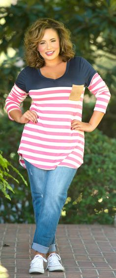 Get It Straight Top - Navy - Perfectly Priscilla Boutique