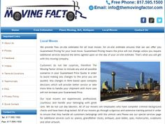 If you are finding local Dallas Northeast moving company for your residential and commercial moves, then you are in right place. We are located in Dallas and offer a full range of quality moving and storage services. We have instant truck available for your long distance moves. For more detail and instant quote please visit our website:  http://themovingfactor.com/local-moves