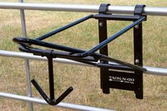 Foldable Saddle Rack for permanat or temporary installation on walls, panels, stalls or fences. Horse Stalls, Horse Barns, Horse Horse, Horse Training Tips, Horse Tips, Western Horse Tack, Western Saddles, Horse Tack Rooms, Barrel Racing Tips