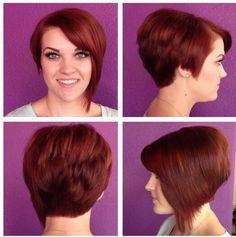 Bold red asymmetrical cut