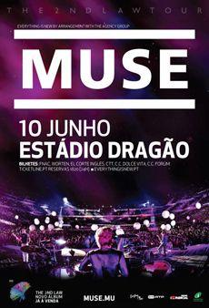 Cartaz concerto Muse
