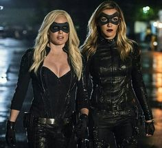The Lance sisters as Black Canary