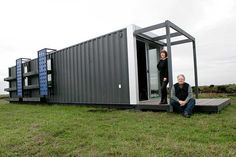 Shipping container homes for low cost housing being produced in Melbourne.