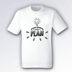 (PREORDER) Koszulka męska biała PLAN duże logo