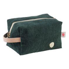 Iona Cube Toiletry Bag Dark green La cerise sur le gâteau Design