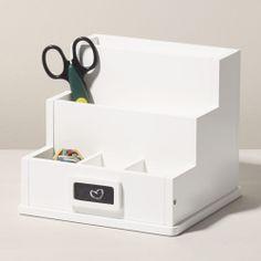 Desk Organiser, White - Gift Finder - - gltc.co.uk