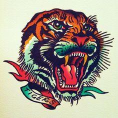 diseño old school tigre - Buscar con Google