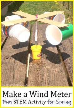 Making a wind meter is a fun STEM activity for spring #STEMactivitiesforkids #STEMactivities #scienceforkids Weather Activities For Kids, Steam Activities, Spring Activities, Science Activities, Weather Crafts, Weather Report For Kids, School Age Activities, Primary Activities, Creative Activities For Kids