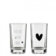 Bastion Collections Tumbler Water 9x7 cm Heart
