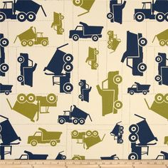 Premier Prints Toy Trucks Felix Blue/Natural Item Number: UQ-051 Our Price: $7.48 per Yard