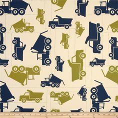 Premier Prints Toy Trucks Felix Blue/Natural Item Number: UQ-051 Our Price: $7.48 per Yard