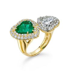 Don't buy jewelry today! But only today ... you can buy jewelry every other day!! #twohearts #ValentinesIsForLoveNotShopping #givelove #hearts #emeralds #rings #oneofakind #theeabpov #pamelahuizenga @theeabproject