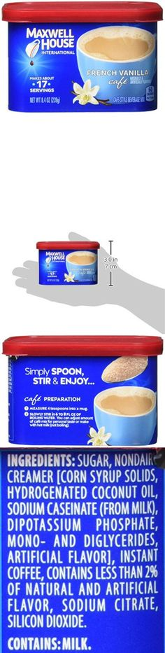 Maxwell House International French Vanilla Cafe, Beverage Mix, 4 Count, 33.6 Ounce Coffee Tumbler, Coffee Mug Sets, Mugs Set, Maxwell House Coffee, Sodium Citrate, Coffee Cream, Instant Coffee, French Vanilla