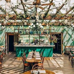 Hoping for sun in #Paris ... Via @tmagazine  The verdant rooftop garden lounge at Pink Mamma is one example of the go-big-or-go-home philosophy of @bigmammagroup's operation in Paris. Theyve been credited with revolutionizing Italian cuisine in the city with their affordable trattorias each with its own design scheme and atmosphere. For Pink Mamma they enlisted the help of Martin Brudnizki Studio (@m_b_d_s_) and transformed a former hospital in the southern section of Pigalle into a…