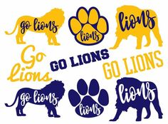 Lion SVG Cut File Pack with 9 Lions Designs for High School and Little League Spirit Shirts School Spirit Days, School Spirit Shirts, School Shirts, Pta School, High School, Sunday School, School Stuff, Middle School, School Shirt Designs