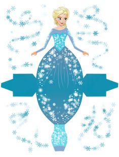 Elsa - Frozen - Disney Princess - Free Printable Disney Princess Box