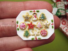 Assorted Christmas Cookies  Traditional Green Gold by PetitPlat, €30.00