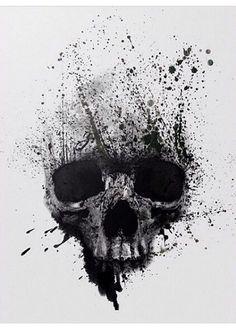 Skull Painting Face-illustration print on canvas, print on wood, print on steel . - Skull Painting Face-illustration print on canvas, print on wood, print on steel or print on paper - Tattoo Design Drawings, Skull Tattoo Design, Tattoo Designs, Skull Design, Skull Artwork, Skull Painting, Body Art Tattoos, Sleeve Tattoos, Tattoo Crane