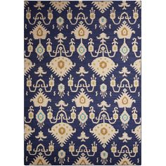 Jaipur Urban Bungalow Samir Estate Blue & Sand Shell Flat Weave Wool... ($71) ❤ liked on Polyvore featuring home, rugs, flatweave wool rug, flat woven wool rug, blue wool rug, blue pattern rug and flatweave rugs
