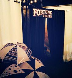 Night Circus Party. Fortune teller booth. #nightcircus #fortuneteller #handlettering