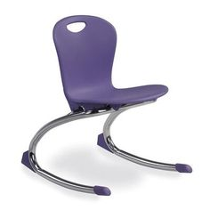 "Virco ZUMA Rocker - 12.75"" Seat Height (Set of 2) Flame Retardant Additive Shell: Included, Frame Color: Chrome, Seat Color: Papaya"