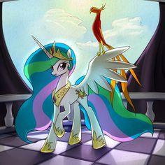 my little pony - ART : Photo My Little Pony Bedroom, Mlp My Little Pony, My Little Pony Friendship, Princesa Celestia, Celestia And Luna, My Little Pony Wallpaper, Little Poni, Mlp Fan Art, Imagenes My Little Pony