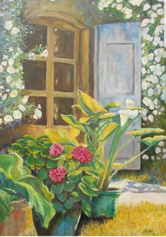 #Blumenvase #Tür #ölmalerei # Kunst #impressionist Create Yourself, Etsy Seller, Creative, Painting, Painted Canvas, Vase For Flowers, Windows, Places, Art