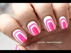 Easy simple nail art design ideas to do at home without nail art nail art has become such an important part of lifeis is the no tool pink and white nail art design you need to rock this weekend prinsesfo Choice Image