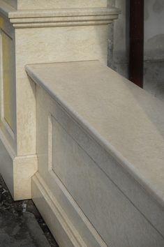 idei garduri marmura,granit si travertin GVB Stone Division Division, Entryway Tables, Stairs, Stone, Furniture, Home Decor, Travertine, Stairway, Rock