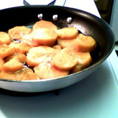 Stove cooked candies white yams