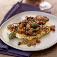 "Cauliflower ""Bistecche"" with Pancetta and Caper Berries Recipe"