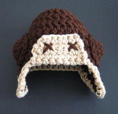 Aviator Hat Baby For Lyndsie and Shauns future baby! lol, so cute @Teri Sigler@Rosalinda Fahy @Lyndsie Sigler