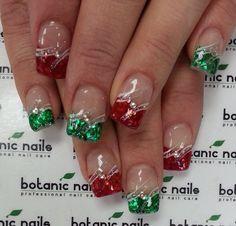 Nail art, nail art designs, nail designs and nails winter. Xmas Nails, Holiday Nails, Christmas Nails, Diy Christmas, Christmas Wreaths, Gorgeous Nails, Pretty Nails, Gel Nails, Acrylic Nails