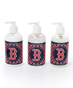 This Boston Red Sox Kitchen & Bath Hand Care Set is perfect! #zulilyfinds