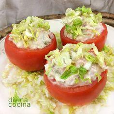 Tomates rellenos fríos < Divina Cocina