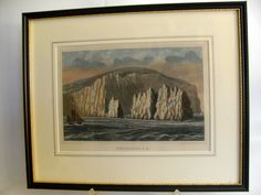 B10528 £SOLD (May 2015) Antique tinted Brannon seascape engraving The Needles IOW