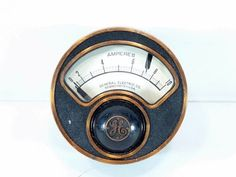 Vintage-General-Electric-Amperes-Meter-No-202971-Type-R2-Steam-Punk-GE
