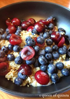 Fruit & Yogurt Quinoa Bowl | Gluten-free | Queen of Quinoa