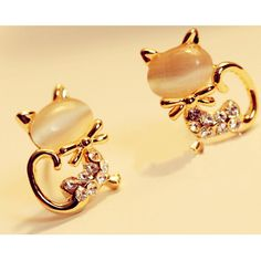 >> Click to Buy << 1pair Korean Fashion Cute Cat Stone Rhinestone Women Stud Earrings H7031 P30 #Affiliate