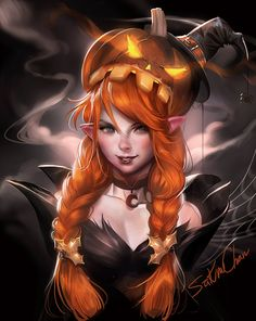 Pumpkin Elf | Happy October •Sakimichan