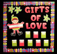 Create the 'Gifts of Love' interactive bulletin board in your classroom to encourage positive interactions between students this holiday season. The focus of this activity is the gift of giving compliments.  Visit Inspired In Style to learn more about this bulletin board!