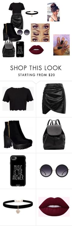 """""""BLACK!"""" by lauren-paul-sets ❤ liked on Polyvore featuring Ted Baker, Boohoo, Witchery, Casetify, Alice + Olivia, Betsey Johnson and Urban Decay"""