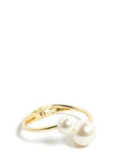 Double The Faux Pearls Bracelet