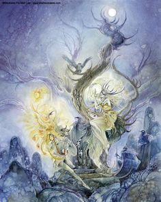 Fantasy Art Photo: Art by Stephanie Pui Mun Law Fantasy Kunst, Fairy Art, Fantasy Artwork, Beautiful Artwork, Faeries, Traditional Art, Watercolor Art, Photo Art, Art Drawings