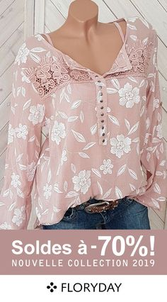 Shop Floryday for affordable Blouses. Floryday offers latest ladies' Blouses collections to fit every occasion. Womens Fashion Online, Latest Fashion For Women, Latest Fashion Trends, Cute Blouses, Blouses For Women, Blouse Styles, Blouse Designs, Kleidung Design, Beginner Knitting Patterns